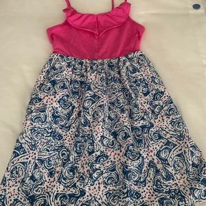 Lilly Pulitzer Girls Dress in Starfish Dress Sz L